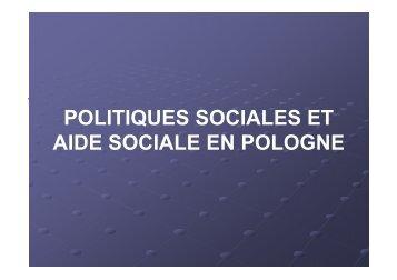 POLITIQUES SOCIALES ET AIDE SOCIALE EN POLOGNE - euroDIR