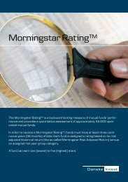 Morningstar Rating™ - Danske Invest