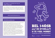 Folder Meldpunt Overlast - Gemeente Leeuwarden