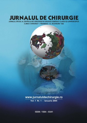 Descarca Nr. 1: Full Text .pdf (9 Mb) - Jurnalul de Chirurgie