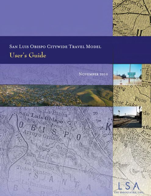 SLO Model User Guide - the City of San Luis Obispo