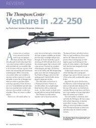 Venture Australian Hunter December 2010 - Frontier Arms