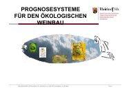 prognosesysteme für den ökologischen weinbau - Ökolandbau in ...