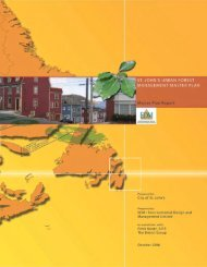 St. John's Urban Forest Master Plan - City of St. John's