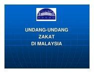 UNDANG-UNDANG ZAKAT DI MALAYSIA