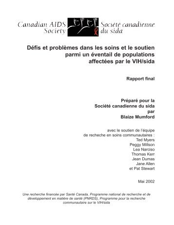 CBR Final Report French.qxd - Canadian AIDS Society