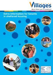 Extra information for tenants in sheltered housing