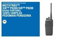 MOTOTRBO XiR P8260/XiR P8268 Radio Portabel Tanpa Tampilan ...
