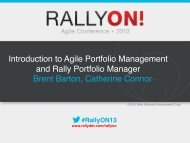 Introduction to Agile Portfolio Management and ... - Rally Software