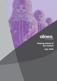 alinea Staying ahead of the market July 2014