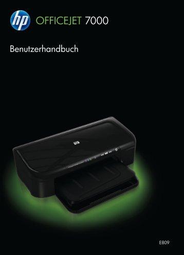 HP Officejet 7000 (E809) Wide Format printer ... - Hewlett Packard
