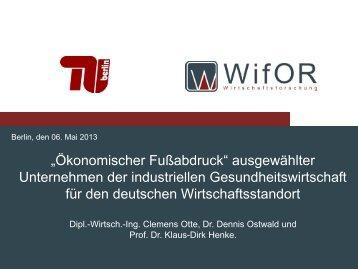 Präsentation: Vortrag Professor Dr. Klaus-Dirk Henke