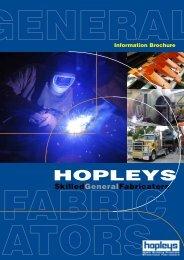 Download the Hopleys Fabrication Brochure - Hunt Lasercut