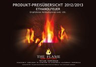 produkt-preisübersicht 2012/2013 ethanolfeuer - The Flame