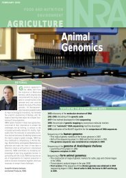 Animal Genomics - French National Institute for Agricultural Research