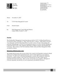 Risk Management Council Meeting Minutes Central - CUNY