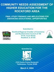 community needs assessment of higher education for the rockford ...