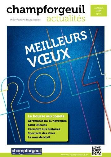 Champforgeuil Actualités Janvier 2014 - Site internet de la ...