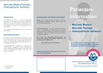 Patienten- information - Ärzteseminar Berlin (ÄMM)