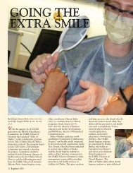 GOING THE EXTRA SMILE - UMKC School of Dentistry