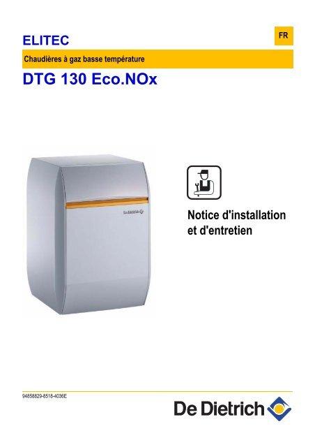 dtg 130 eco nox de dietrich thermique pro. Black Bedroom Furniture Sets. Home Design Ideas