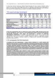A TVK-csoport 2013. I. negyedéves időközi vezetőségi beszámolója