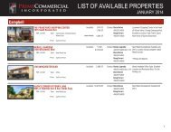 LIST OF AVAILABLE PROPERTIES - Prime Commercial, Inc
