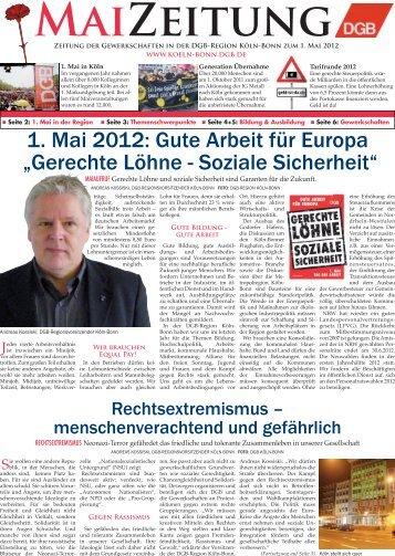 """1. Mai 2012: Gute Arbeit für Europa """"Gerechte Löhne ... - IG Metall"""