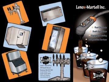 Real City Soda Brochure - Lenox-Martell Inc