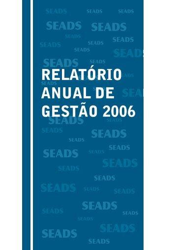 2006 clique aqui - Secretaria de Desenvolvimento Social - Governo ...