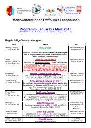 Programm Januar bis März 2013