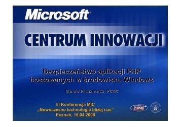 Bezpieczny hosting aplikacji PHP w środowisku Microsoft - Centrum ...