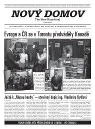 Evropa a ČR se v Torontu předváděly Kanadě - Nový Domov