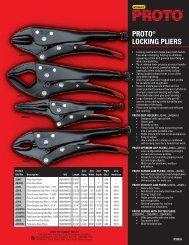 proto® locking pliers - Eoss.com
