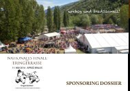 Sponsoring-Dossier 2014 - Finale cantonale