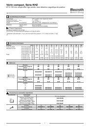 Vérin compact, Série KHZ - Bosch Rexroth