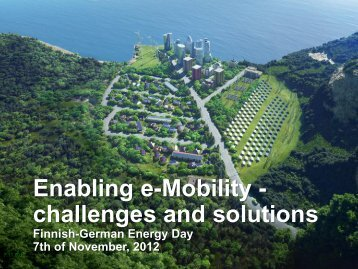 Enabling E.mobility - Finnish-German Energy Day 2012