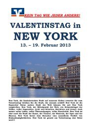 VALENTINSTAG in NEW YORK 13. – 19. Februar 2013