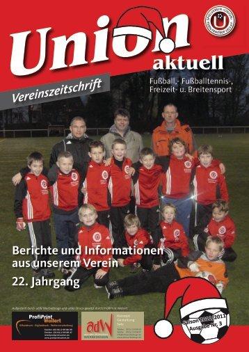 Vereinsdaten / Vorwort - SV Union Essen-Frintrop 1913 eV
