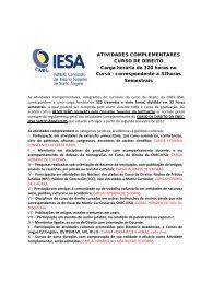 ATIVIDADES COMPLEMENTARES CURSO DE DIREITO Carga ...