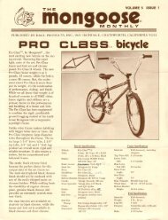 mongoose monthly vol 5 issue #1 - Vintage Mongoose