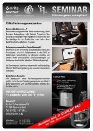 Einladung i1DisplayPro (Rauch spezifisch) - Rauch IT GmbH
