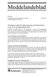 5 kap. 10 § socialtjänstlagen - Socialstyrelsen