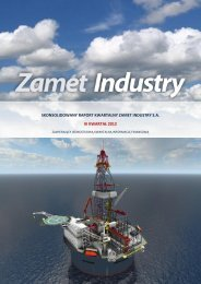 skonsolidowany raport kwartalny zamet industry sa iii kwartał 2012