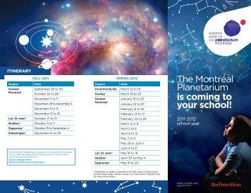The Montréal Planetarium is coming to your school! - Ville de Montréal