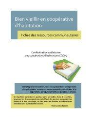 Bien vieillir en coopérative d'habitation - Coopératives d'habitation