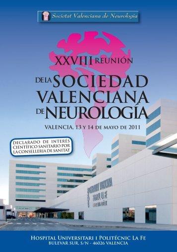 00. PROGRAMA NEUROLOGIA 2011.indd - Sociedad Valenciana ...