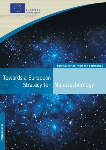 Towards a European Strategy for Nanotechnology