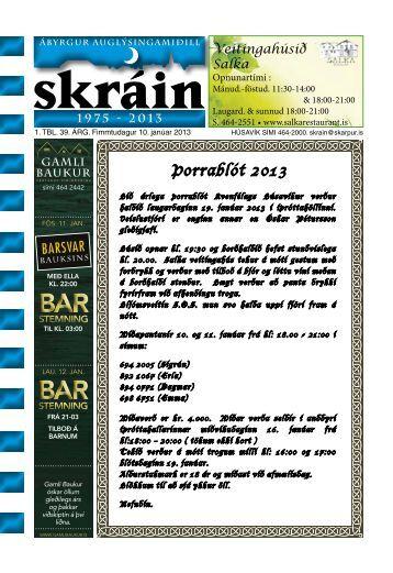 Skráin 1 . tbl. - 10. janúar 2013 - Skarpur.is