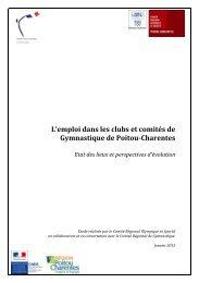 Etude sur l'emploi dans les clubs et comités de Gymnastique - CROS